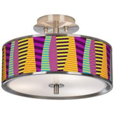 "Mambo Giclee Glow 14"" Wide Ceiling Light"