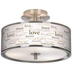 "Positivity Giclee Glow 14"" Wide Ceiling Light"
