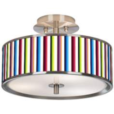 "Technocolors Giclee Glow 14"" Wide Ceiling Light"