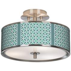 "Aqua Rings Giclee Glow 14"" Wide Ceiling Light"