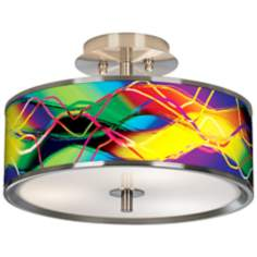 "Colors In Motion (Light) Giclee Glow 14"" Wide Ceiling Light"