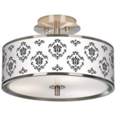 "French Crest Giclee Glow 14"" Wide Ceiling Light"