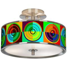 "Circle Parade Giclee Glow 14"" Wide Ceiling Light"