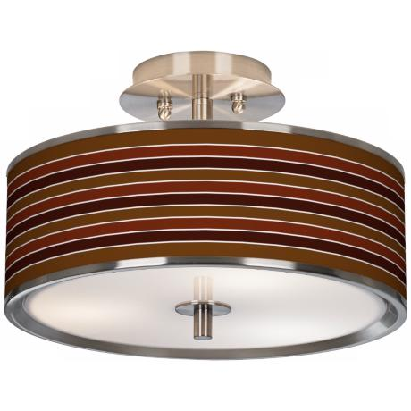 "Tones Of Sienna Giclee Glow 14"" Wide Ceiling Light"