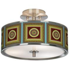 "Stacy Garcia Tiber Medallion Garnet 14"" Ceiling Light"