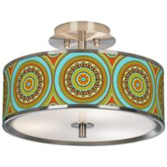 "Stacy Garcia Arno Mosaic Daybreak 14"" Ceiling Light"