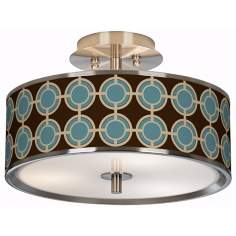 "Stacy Garcia Porthole Giclee Glow 14"" Wide Ceiling Light"