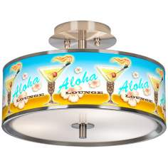 "Aloha Lounge Glow 14"" Wide Ceiling Light"