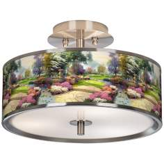 "Thomas Kinkade Living Waters Golfer's Paradise 14""W Light"