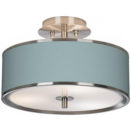 "Festoon Aqua Giclee Glow 14"" Wide Ceiling Light"