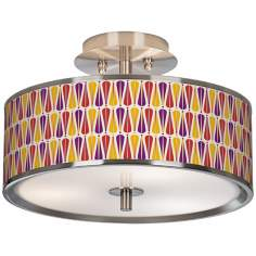 "Hinder Giclee Glow 14"" Wide Ceiling Light"