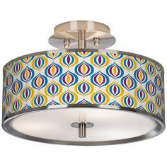 "Scatter Giclee Glow 14"" Wide Ceiling Light"