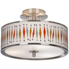 "Tremble Giclee Glow 14"" Wide Ceiling Light"