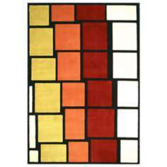 Tremont Collection Stax Wine Area Rug