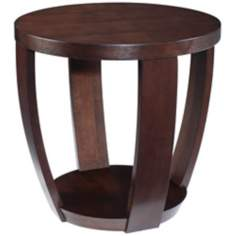 Sotto Sienna Finish Round Accent Table