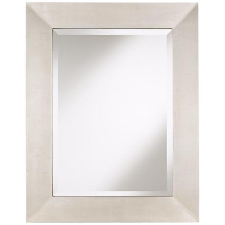 "Brondby Silver Finish 36"" High Rectangular Wall Mirror"