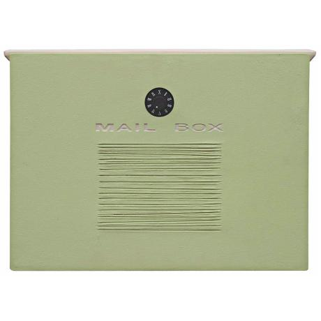 Crea Mint Finish Locking Mailbox