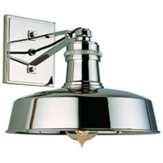 Hudson Falls Polished Nickel Wall Sconce