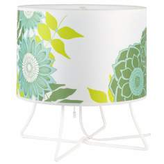 Lights Up! Virgil Low Anna Green Shade Accent Lamp