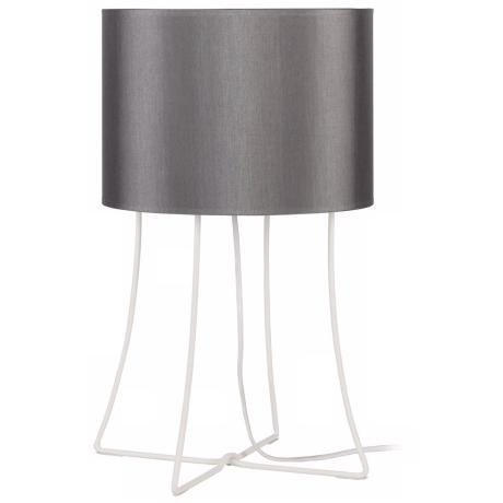 Lights Up! Virgil Table Platinum Silk Glow Shade Table Lamp