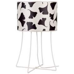 Lights Up! Virgil Black Ginko Leaf Shade Table Lamp