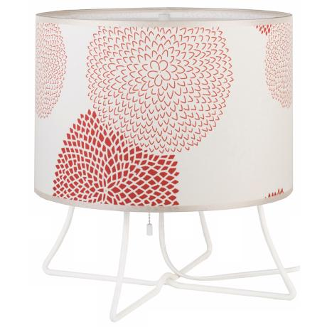 Lights Up! Virgil Low Red Mum Shade Accent Lamp