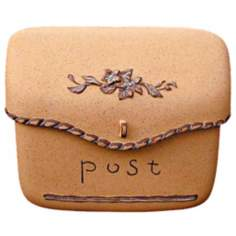 Sand Finish Pouch Post or Wallmount Mailbox