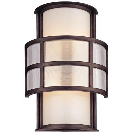 "Discus Collection 2-Light 14"" High Outdoor Wall Light"