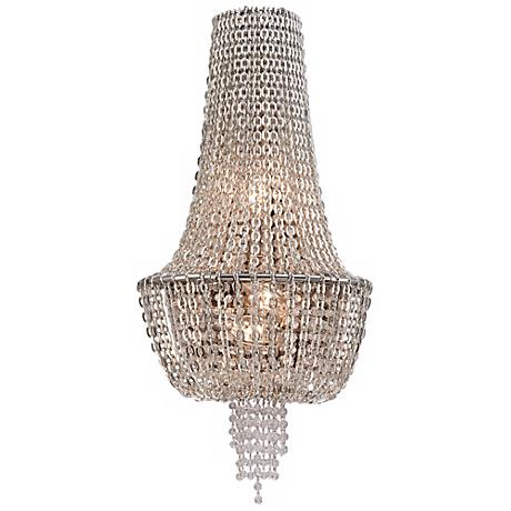 "Vixen Polished Nickel 25"" High Corbett Wall Sconce"