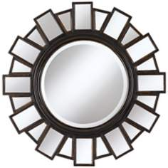 "Mirrored Frame 35 1/2"" Wide Moonlight Wall Mirror"