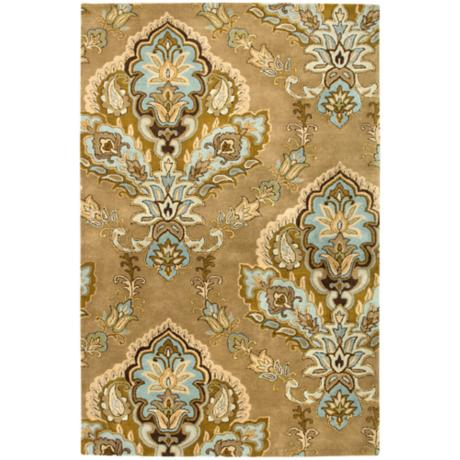 Natural Wool Collection Talmont Latte Area Rug