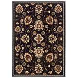 Durand Collection Night Blossom Beige Area Rug