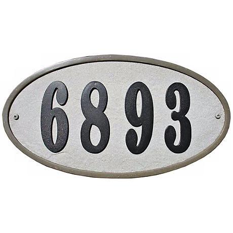 Ridgestone Slate Oval Address Plaque