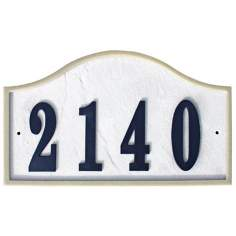 Ridgestone Slate Finish Serpentine Address Plaque