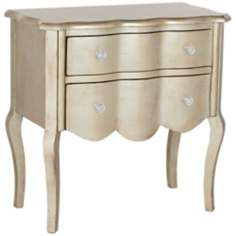 Penelope Silver Finish French Style 2-Drawer Chest