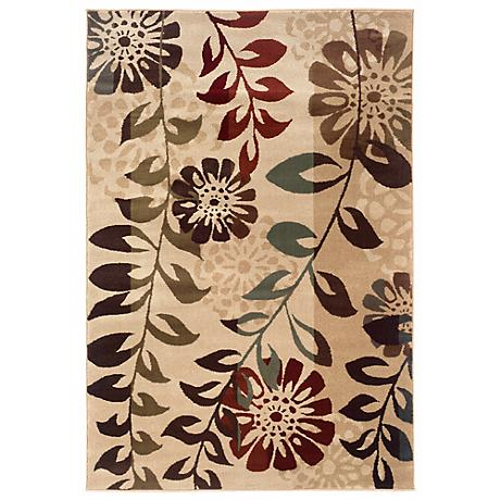 Durand Collection Longstem Ivory and Gold Area Rug