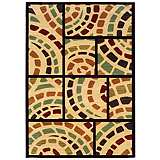 Durand Collection Mosaic Beige and Black Area Rug