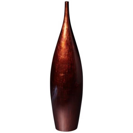 "Copper Lacquer Finish 26 1/2"" High Bottle Vase"