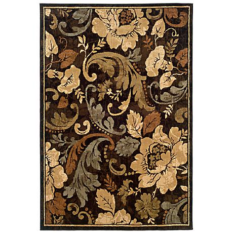 Langham Collection Fiore Brown and Beige Area Rug