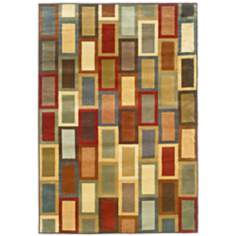 Langham Collection Mid-Town Beige and Gold Area Rug
