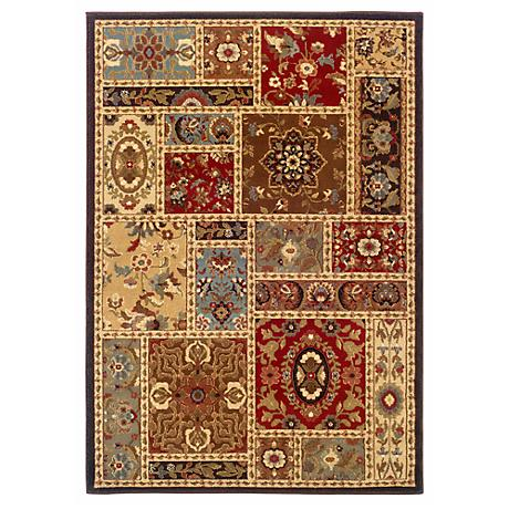 Langham Collection Cottage Beige and Brown Area Rug