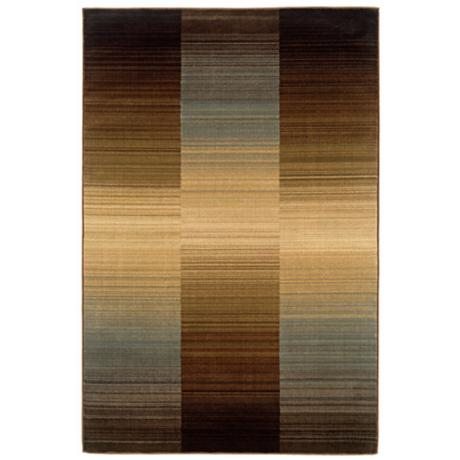 Langham Collection Horizons Brown and Blue Area Rug