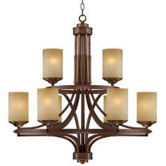 "Chic Chalet Bronze 30"" Wide Two-Tier Chandelier"