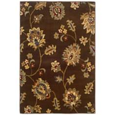 Langham Collection Alessa Brown and Gold Area Rug