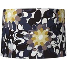 Black and Olive Contemporary Drum Shade 15x16x11 (Spider)