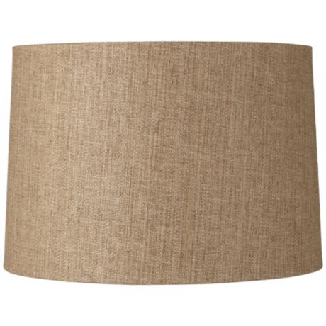 Hardback Tan Weave Drum Shade 15x16x11 (Spider)