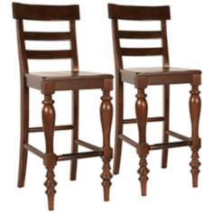 "Set of 2 Buster 26"" High Espresso Counter Stool"