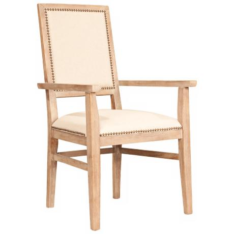 Dexter Stone Wash Acacia Wood Dining Arm Chair