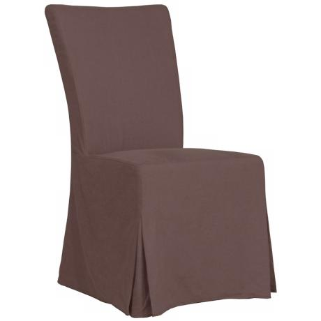 Taylor Coffee Fabric Covered Armless Dining Chair