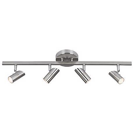 Julian 4-Light Perforated Head Brushed Steel Track Fixture